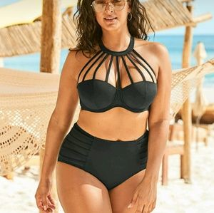 Adore Me Waiola Swim Top Only Size 40D NWT